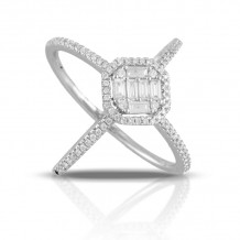 Doves 18k White Gold Diamond Fashion Diamond Ring - R8687