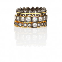 Freida Rothman Marquise Beaded Set Of 5 Rings