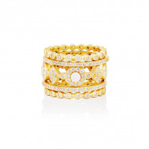 Freida Rothman Yellow Plated Sterling Silver Stackable Ring