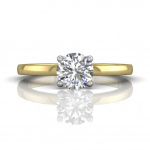 Martin Flyer Two Tone 14k Gold FlyerFit Engagement Ring