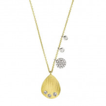 Meira T 14k Yellow Gold Tear Drop Necklace