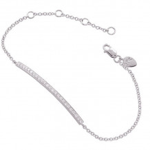 Meira T 14k White Gold Diamond Bar Chain Bracelet