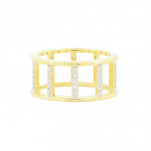 Freida Rothman 14k Yellow Gold Plated Sterling Silver Ring