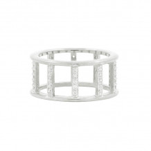 Freida Rothman Platinum Rhodium Plated Sterling Silver Ring