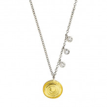 Meira T 14k Yellow Gold Swirl Disc Necklace