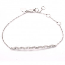 Meira T White gold Antique Diamond Bar Bracelet