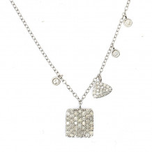 Meira T White Gold Shape Charmed Necklace