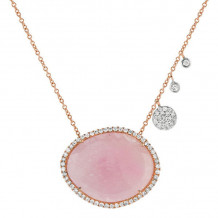 Meira T 14k Rose Gold Cosmopolitan Rough Pink Sapphire Necklace
