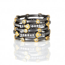 Freida Rothman Mixed Stackable Set Of 5 Rings