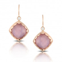 Doves 18k Rose Gold Viola Mother of Pearl Earrings - E6792PMA