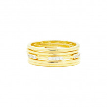 Freida Rothman 14k Yellow Gold Plated Sterling Silver Stackable Rings