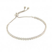 Meira T 14k White Gold Diamond Bracelet with Tie